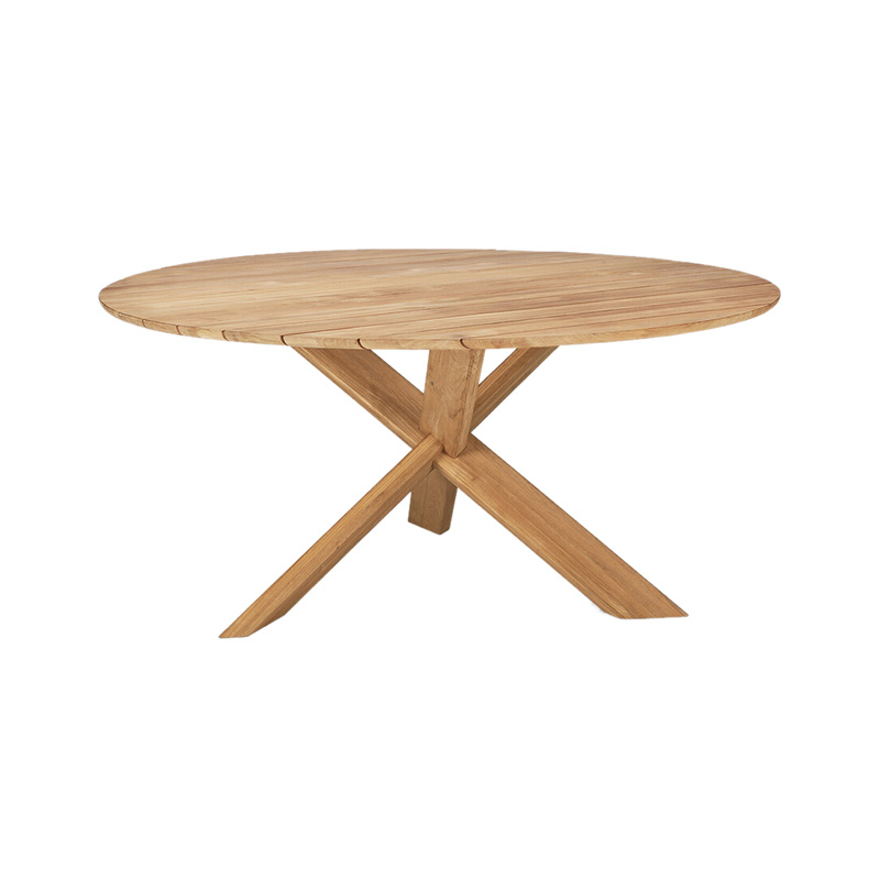 Ethnicraft Circle Outdoor Round Dining Table by Alain Van Havre Olson and Baker - Designer & Contemporary Sofas, Furniture - Olson and Baker showcases original designs from authentic, designer brands. Buy contemporary furniture, lighting, storage, sofas & chairs at Olson + Baker.