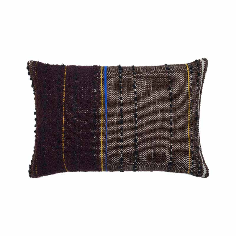 Ethnicraft Dark Tulum 60x40cm Cushion by Dawn Sweitzer Olson and Baker - Designer & Contemporary Sofas, Furniture - Olson and Baker showcases original designs from authentic, designer brands. Buy contemporary furniture, lighting, storage, sofas & chairs at Olson + Baker.