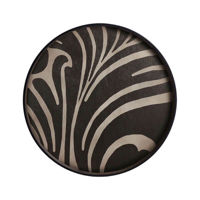 Ethnicraft Folk Round Wooden Tray by Dawn Sweitzer Olson and Baker - Designer & Contemporary Sofas, Furniture - Olson and Baker showcases original designs from authentic, designer brands. Buy contemporary furniture, lighting, storage, sofas & chairs at Olson + Baker.