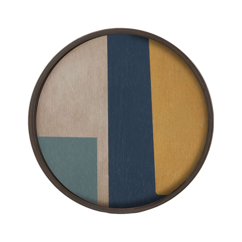 Ethnicraft Geo Study Round Wooden Valet Tray by Dawn Sweitzer Olson and Baker - Designer & Contemporary Sofas, Furniture - Olson and Baker showcases original designs from authentic, designer brands. Buy contemporary furniture, lighting, storage, sofas & chairs at Olson + Baker.