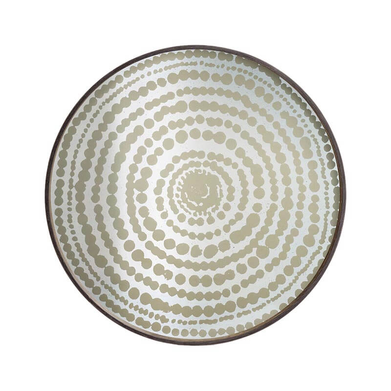 Ethnicraft Gold Beads Round Mirror Tray by Dawn Sweitzer Olson and Baker - Designer & Contemporary Sofas, Furniture - Olson and Baker showcases original designs from authentic, designer brands. Buy contemporary furniture, lighting, storage, sofas & chairs at Olson + Baker.