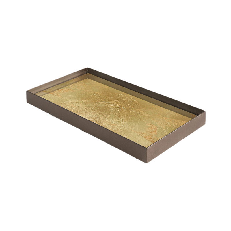 Ethnicraft_Gold_Leaf_Glass_Valet_Tray_by_Dawn_Sweitzer_Medium_2 Olson and Baker - Designer & Contemporary Sofas, Furniture - Olson and Baker showcases original designs from authentic, designer brands. Buy contemporary furniture, lighting, storage, sofas & chairs at Olson + Baker.