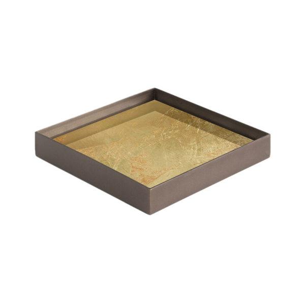 Gold Leaf Glass Valet Tray
