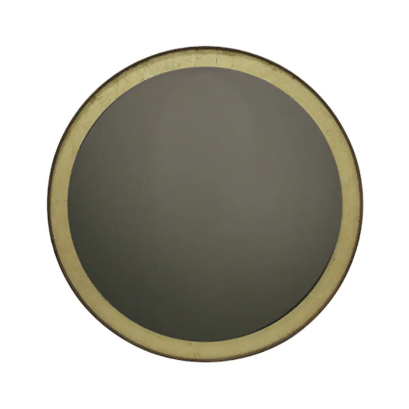 Ethnicraft Gold Leaf Round Wall Mirror by Dawn Sweitzer Olson and Baker - Designer & Contemporary Sofas, Furniture - Olson and Baker showcases original designs from authentic, designer brands. Buy contemporary furniture, lighting, storage, sofas & chairs at Olson + Baker.
