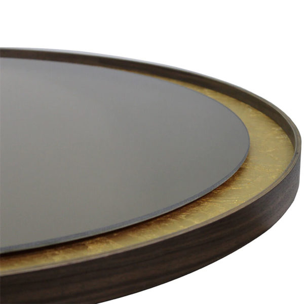 Gold Leaf Round Wall Mirror