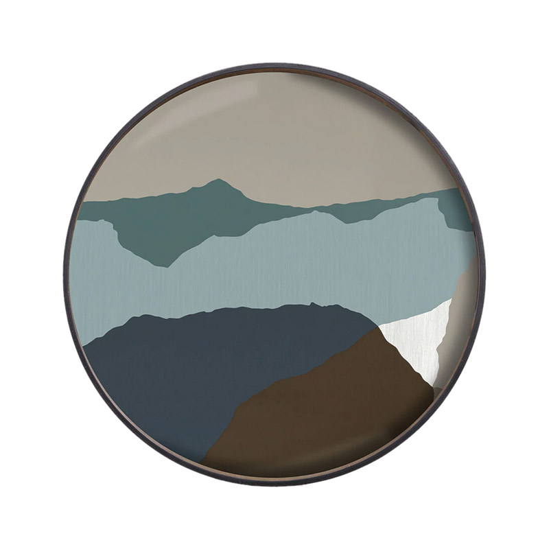 Ethnicraft Graphite Wabi Sabi Round Glass Tray by Dawn Sweitzer Olson and Baker - Designer & Contemporary Sofas, Furniture - Olson and Baker showcases original designs from authentic, designer brands. Buy contemporary furniture, lighting, storage, sofas & chairs at Olson + Baker.