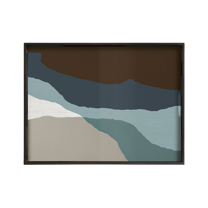 Ethnicraft Graphite Wabi Sabi Rectangualr Glass Tray by Dawn Sweitzer Olson and Baker - Designer & Contemporary Sofas, Furniture - Olson and Baker showcases original designs from authentic, designer brands. Buy contemporary furniture, lighting, storage, sofas & chairs at Olson + Baker.