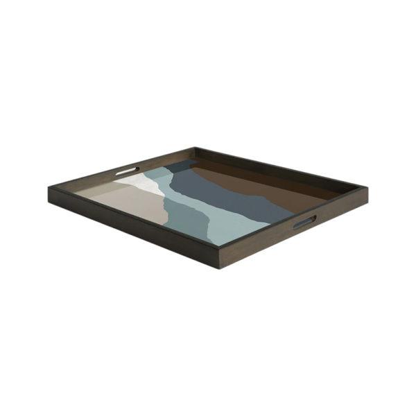 Graphite Wabi Sabi Rectangualr Glass Tray