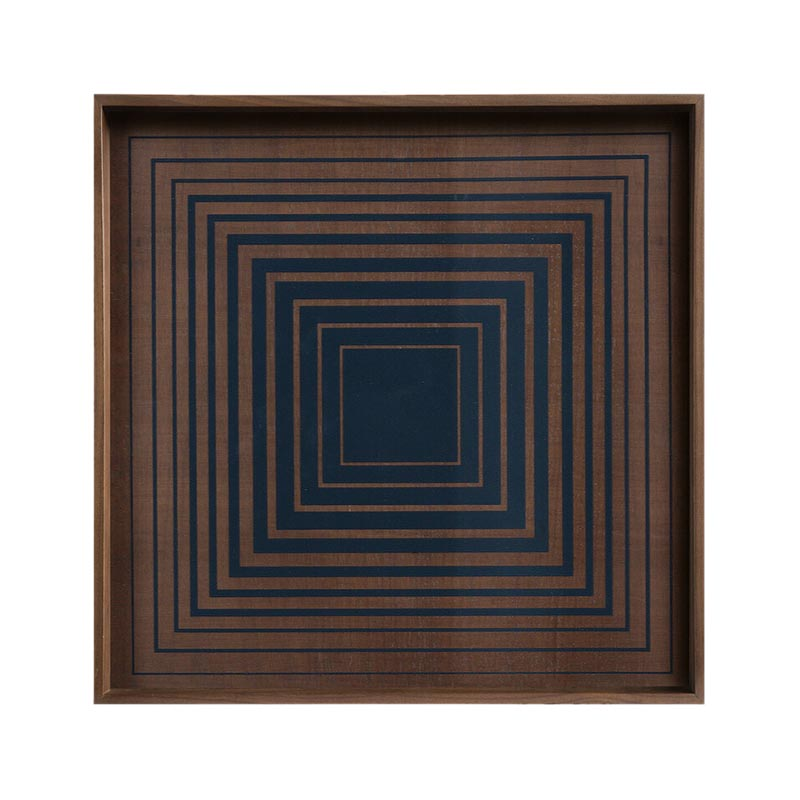 Ethnicraft Ink Square Glass Tray by Dawn Sweitzer Olson and Baker - Designer & Contemporary Sofas, Furniture - Olson and Baker showcases original designs from authentic, designer brands. Buy contemporary furniture, lighting, storage, sofas & chairs at Olson + Baker.