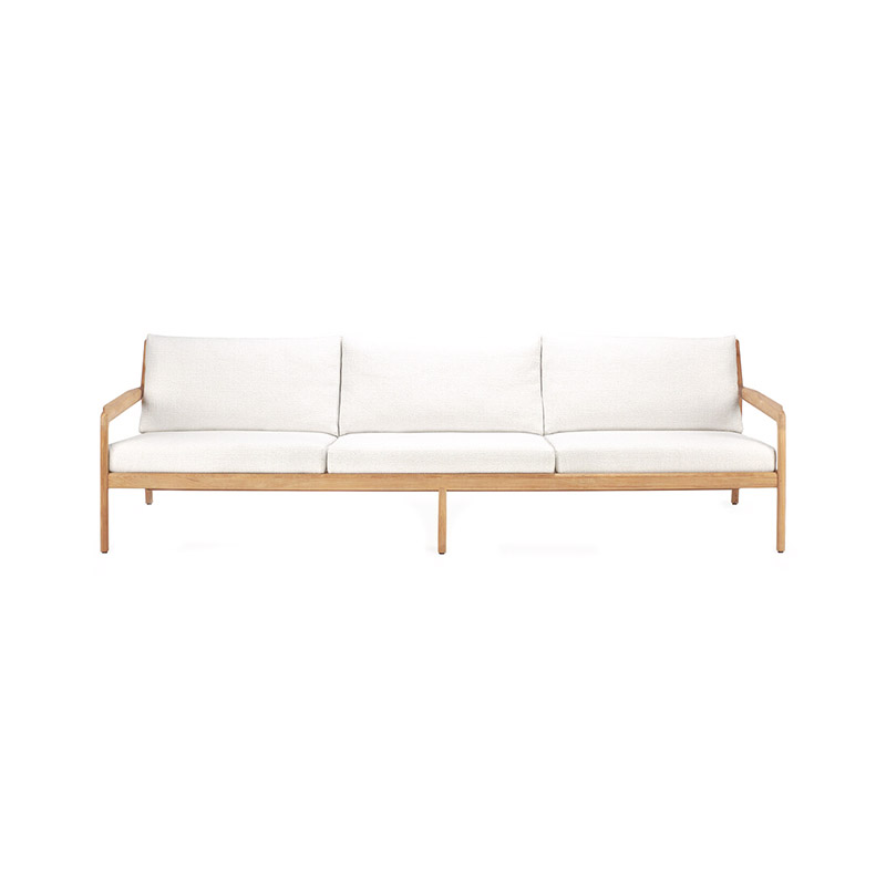 Ethnicraft Jack Outdoor Three Seat Sofa by Jacques Deneef Olson and Baker - Designer & Contemporary Sofas, Furniture - Olson and Baker showcases original designs from authentic, designer brands. Buy contemporary furniture, lighting, storage, sofas & chairs at Olson + Baker.