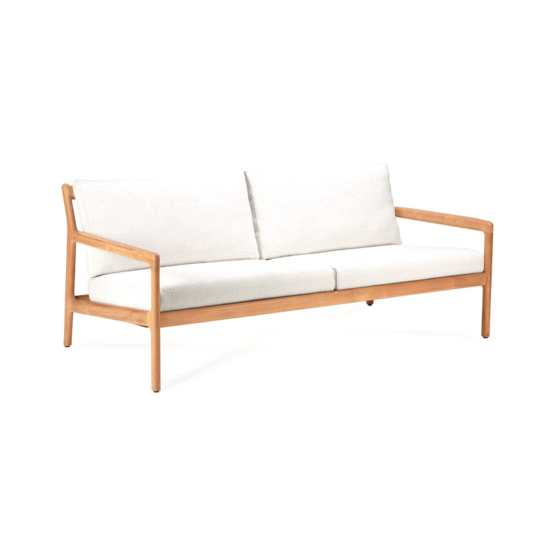 Ethnicraft Jack Outdoor Two Seat Sofa by Jacques Deneef Olson and Baker - Designer & Contemporary Sofas, Furniture - Olson and Baker showcases original designs from authentic, designer brands. Buy contemporary furniture, lighting, storage, sofas & chairs at Olson + Baker.