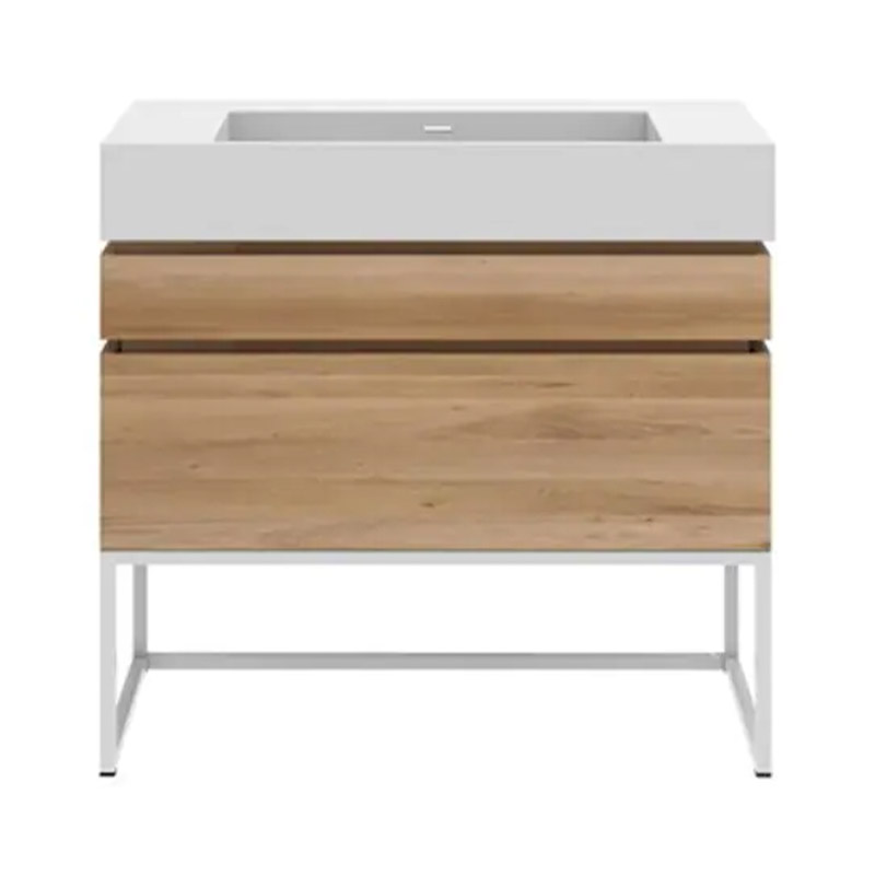 Ethnicraft Layers Sink Cabinet by Sascha Sartory Olson and Baker - Designer & Contemporary Sofas, Furniture - Olson and Baker showcases original designs from authentic, designer brands. Buy contemporary furniture, lighting, storage, sofas & chairs at Olson + Baker.
