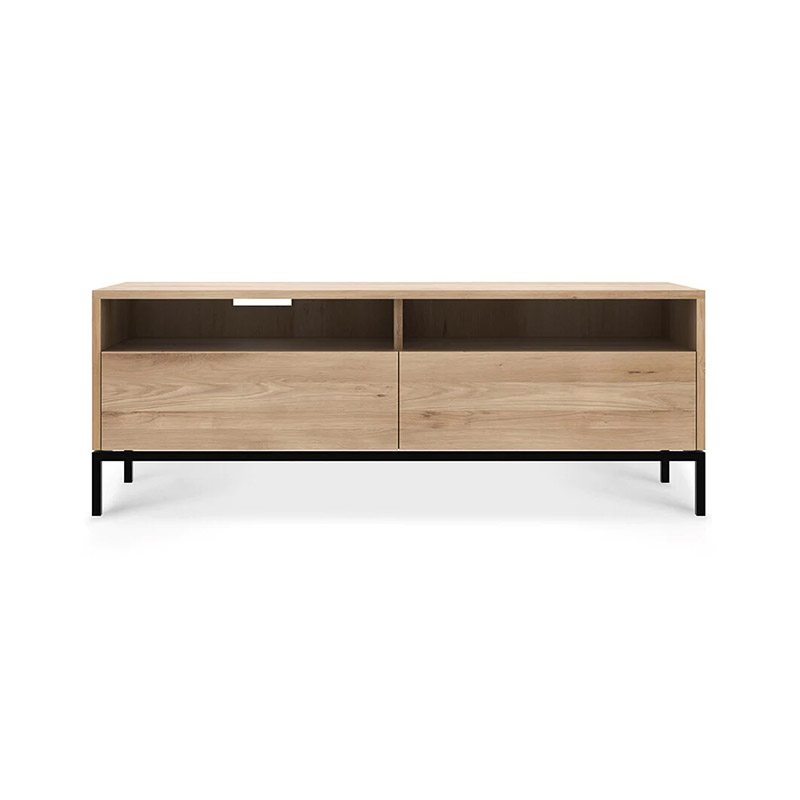 Ethnicraft Ligna TV Cupboard by Alain Van Havre Olson and Baker - Designer & Contemporary Sofas, Furniture - Olson and Baker showcases original designs from authentic, designer brands. Buy contemporary furniture, lighting, storage, sofas & chairs at Olson + Baker.
