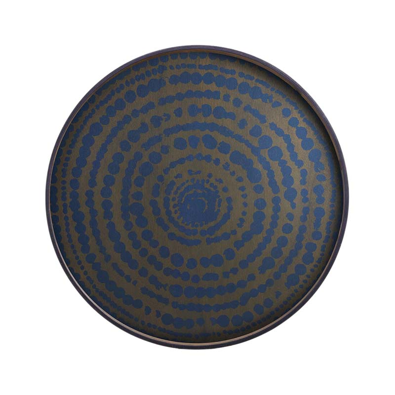 Ethnicraft Midnight Beads Round Wooden Tray by Dawn Sweitzer Olson and Baker - Designer & Contemporary Sofas, Furniture - Olson and Baker showcases original designs from authentic, designer brands. Buy contemporary furniture, lighting, storage, sofas & chairs at Olson + Baker.