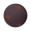 Ethnicraft Midnight Chevron Round Glass Tray by Dawn Sweitzer Olson and Baker - Designer & Contemporary Sofas, Furniture - Olson and Baker showcases original designs from authentic, designer brands. Buy contemporary furniture, lighting, storage, sofas & chairs at Olson + Baker.
