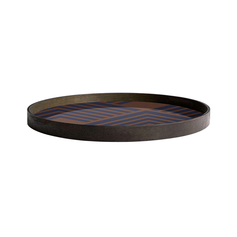 Ethnicraft_Midnight_Chevron_glass _Tray_by_Dawn_Sweitzer_2 Olson and Baker - Designer & Contemporary Sofas, Furniture - Olson and Baker showcases original designs from authentic, designer brands. Buy contemporary furniture, lighting, storage, sofas & chairs at Olson + Baker.