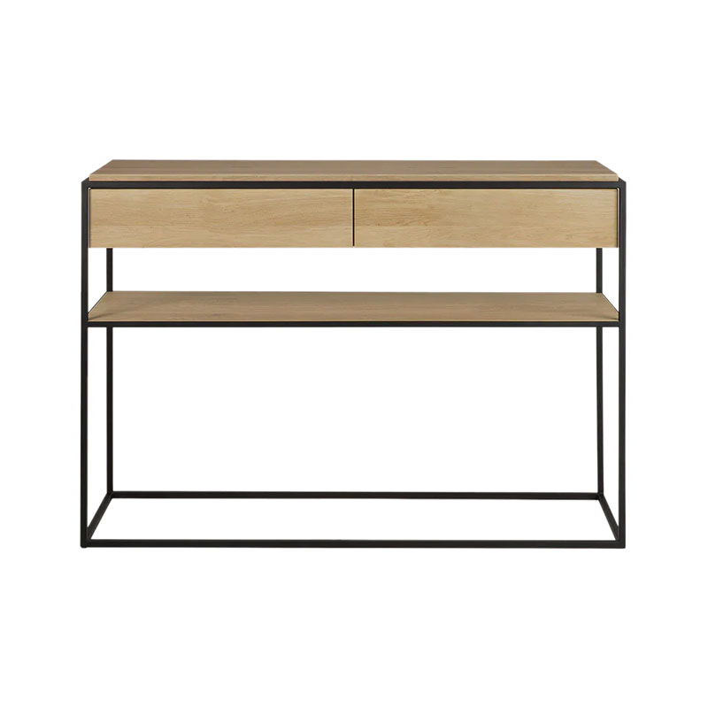 Ethnicraft Monolit Console by Sascha Sartory Olson and Baker - Designer & Contemporary Sofas, Furniture - Olson and Baker showcases original designs from authentic, designer brands. Buy contemporary furniture, lighting, storage, sofas & chairs at Olson + Baker.