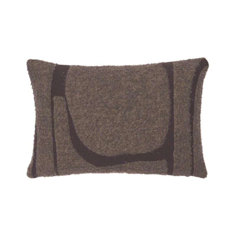 Ethnicraft Moro Abstract 60x40cm Cushion by Ethnicraft Design Studio Olson and Baker - Designer & Contemporary Sofas, Furniture - Olson and Baker showcases original designs from authentic, designer brands. Buy contemporary furniture, lighting, storage, sofas & chairs at Olson + Baker.