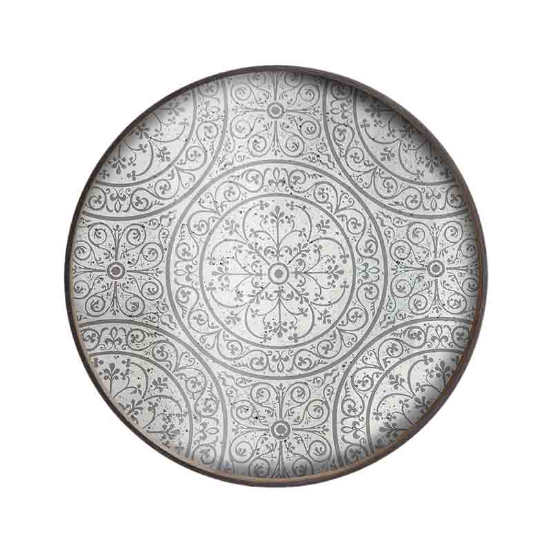 Ethnicraft Moroccan Frost Round Mirror Tray by Dawn Sweitzer Olson and Baker - Designer & Contemporary Sofas, Furniture - Olson and Baker showcases original designs from authentic, designer brands. Buy contemporary furniture, lighting, storage, sofas & chairs at Olson + Baker.