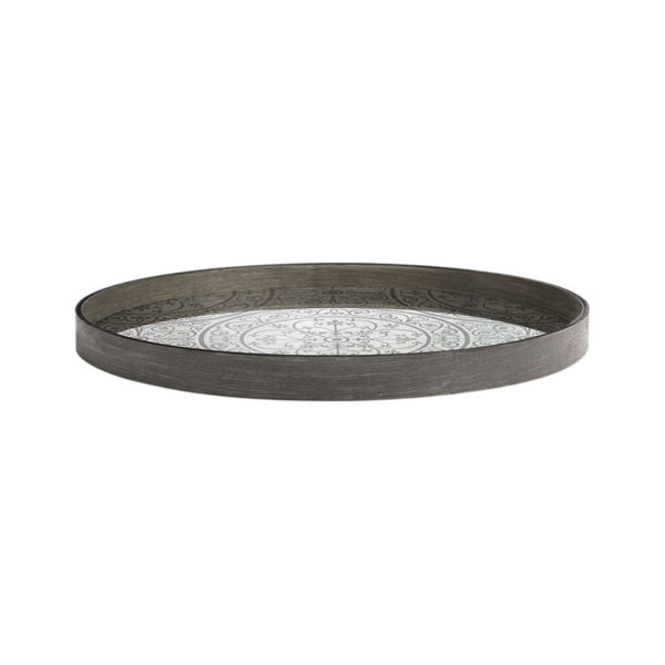 Moroccan Frost Round Mirror Tray