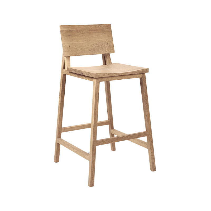 Ethnicraft N3 Kitchen Counter Stool by Nathan Yong Olson and Baker - Designer & Contemporary Sofas, Furniture - Olson and Baker showcases original designs from authentic, designer brands. Buy contemporary furniture, lighting, storage, sofas & chairs at Olson + Baker.