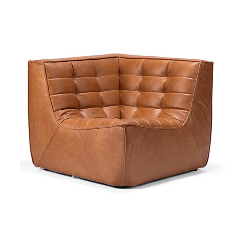 Ethnicraft N701 Corner Sofa by Jacques Deneef Olson and Baker - Designer & Contemporary Sofas, Furniture - Olson and Baker showcases original designs from authentic, designer brands. Buy contemporary furniture, lighting, storage, sofas & chairs at Olson + Baker.