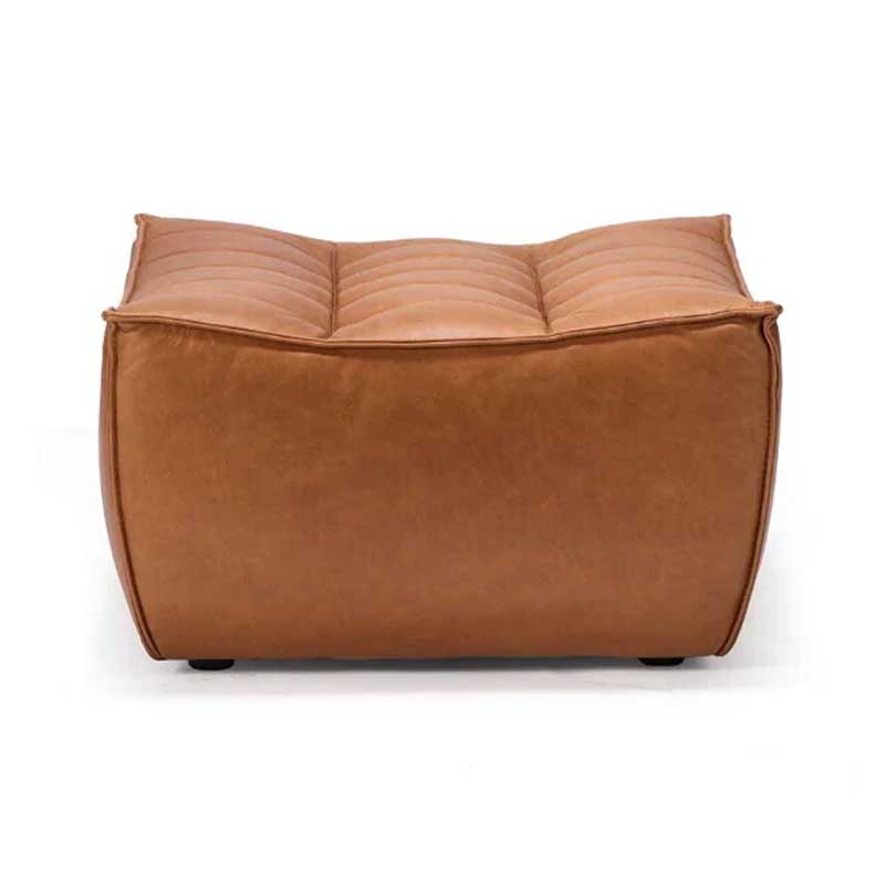 Ethnicraft N701 Foot Stool by Jacques Deneef Olson and Baker - Designer & Contemporary Sofas, Furniture - Olson and Baker showcases original designs from authentic, designer brands. Buy contemporary furniture, lighting, storage, sofas & chairs at Olson + Baker.
