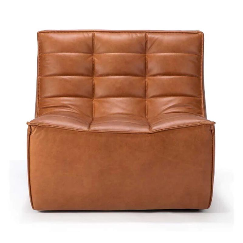 Ethnicraft N701 One Seat Sofa by Jacques Deneef Olson and Baker - Designer & Contemporary Sofas, Furniture - Olson and Baker showcases original designs from authentic, designer brands. Buy contemporary furniture, lighting, storage, sofas & chairs at Olson + Baker.