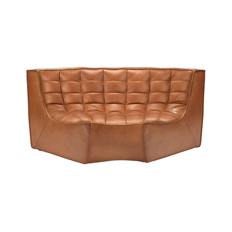 Ethnicraft N701 Round Corner Sofa by Jacques Deneef Olson and Baker - Designer & Contemporary Sofas, Furniture - Olson and Baker showcases original designs from authentic, designer brands. Buy contemporary furniture, lighting, storage, sofas & chairs at Olson + Baker.