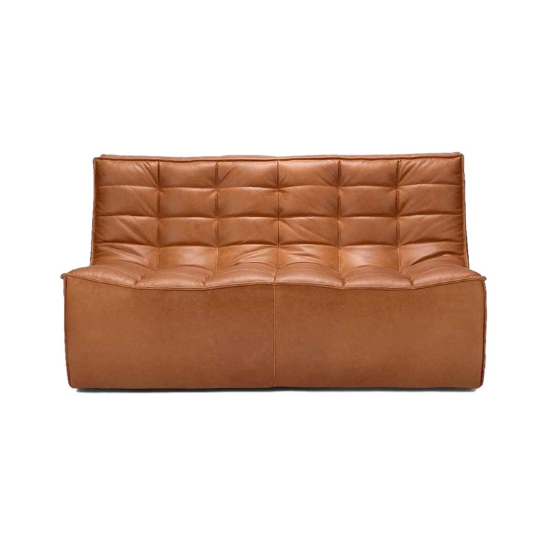Ethnicraft N701 Two Seat Sofa by Jacques Deneef Olson and Baker - Designer & Contemporary Sofas, Furniture - Olson and Baker showcases original designs from authentic, designer brands. Buy contemporary furniture, lighting, storage, sofas & chairs at Olson + Baker.