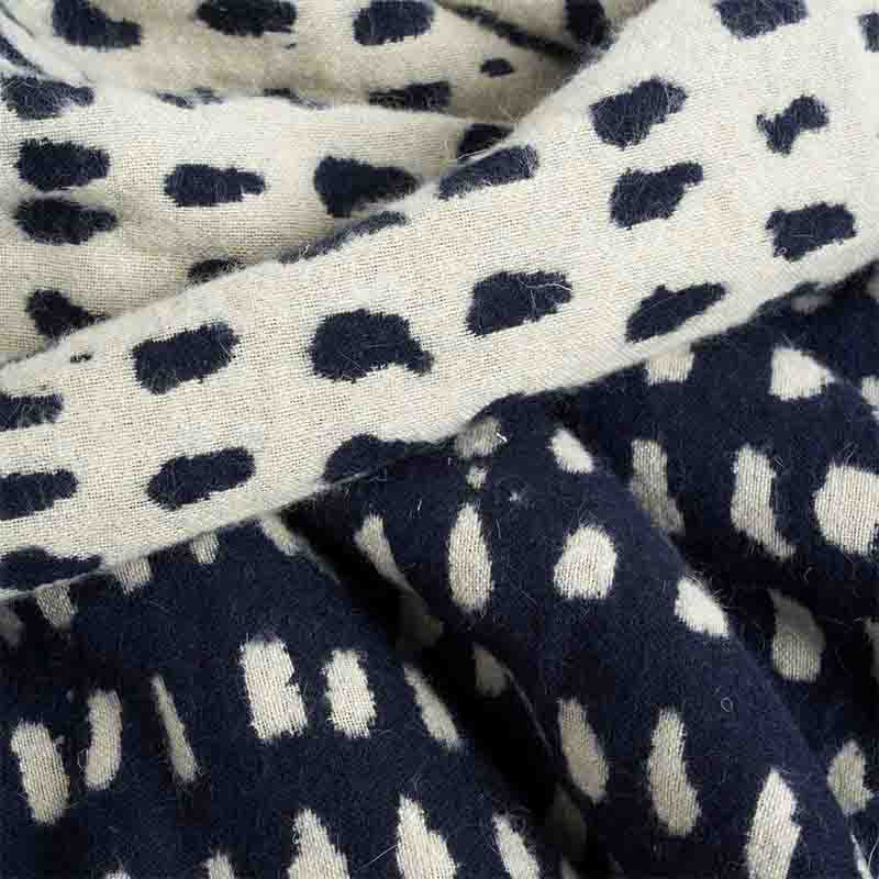 Ethnicraft_Navy_Dots_140x240cm_Throw_by_Dawn_Sweitzer_7 Olson and Baker - Designer & Contemporary Sofas, Furniture - Olson and Baker showcases original designs from authentic, designer brands. Buy contemporary furniture, lighting, storage, sofas & chairs at Olson + Baker.
