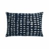 Ethnicraft Navy Dots 60x40cm Cushion by Dawn Sweitzer Olson and Baker - Designer & Contemporary Sofas, Furniture - Olson and Baker showcases original designs from authentic, designer brands. Buy contemporary furniture, lighting, storage, sofas & chairs at Olson + Baker.