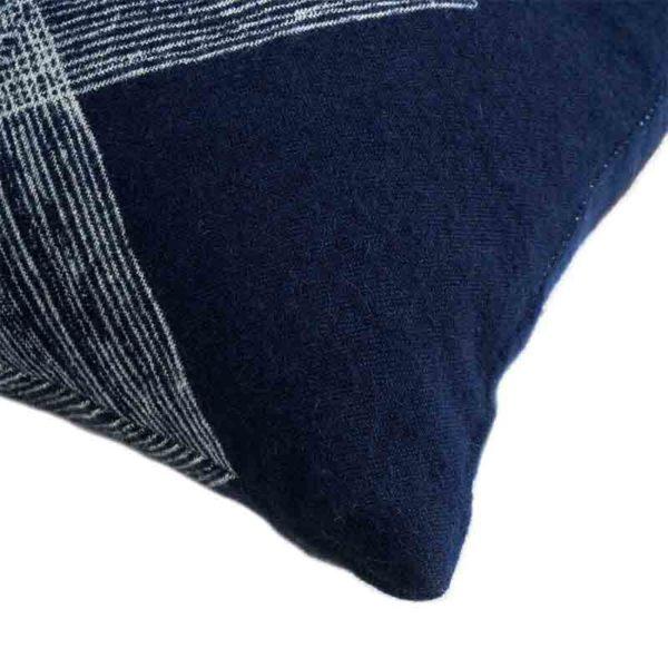 Navy Linear Diamonds 60x40cm Cushion