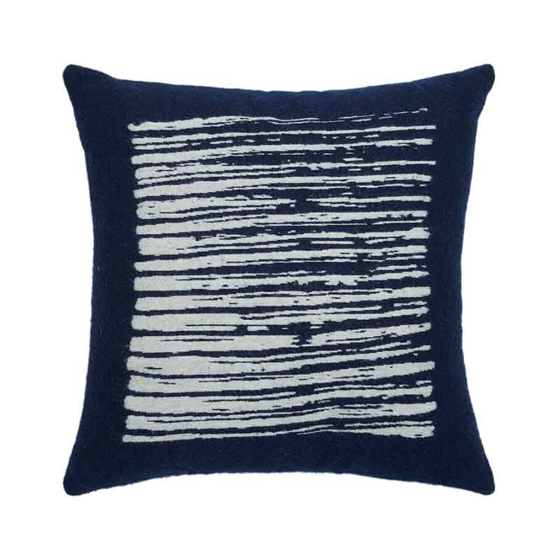 Ethnicraft Navy Lines 45x45cm Cushion by Dawn Sweitzer Olson and Baker - Designer & Contemporary Sofas, Furniture - Olson and Baker showcases original designs from authentic, designer brands. Buy contemporary furniture, lighting, storage, sofas & chairs at Olson + Baker.
