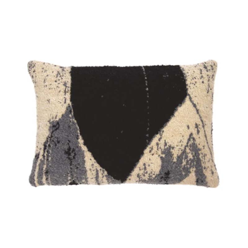 Ethnicraft Nero Chevron 60x40cm Cushion by Ethnicraft Design Studio Olson and Baker - Designer & Contemporary Sofas, Furniture - Olson and Baker showcases original designs from authentic, designer brands. Buy contemporary furniture, lighting, storage, sofas & chairs at Olson + Baker.