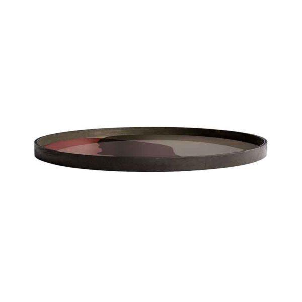 Pinot Combined Dots Round Glass Tray
