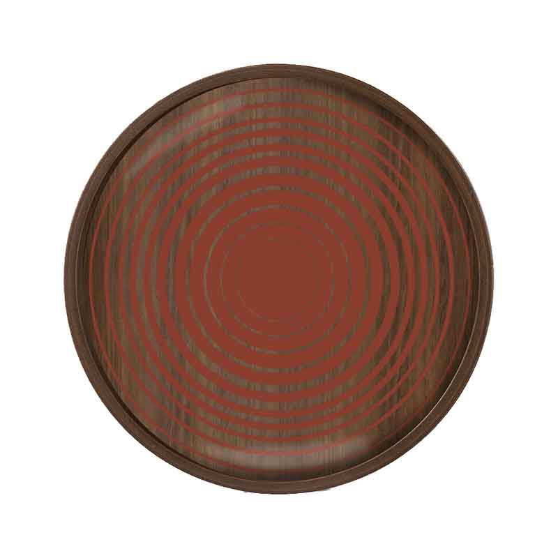 Ethnicraft Pumpkin Circles Round Glass Valet Tray by Dawn Sweitzer Olson and Baker - Designer & Contemporary Sofas, Furniture - Olson and Baker showcases original designs from authentic, designer brands. Buy contemporary furniture, lighting, storage, sofas & chairs at Olson + Baker.