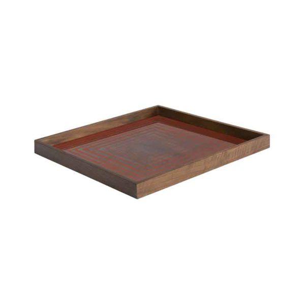 Pumpkin Square Glass Tray
