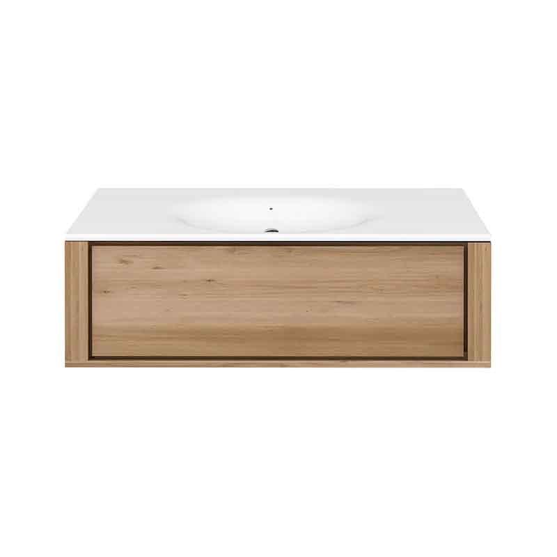 Ethnicraft Qualitime Hanging Sink Cabinet by Ethnicraft Design Studio Olson and Baker - Designer & Contemporary Sofas, Furniture - Olson and Baker showcases original designs from authentic, designer brands. Buy contemporary furniture, lighting, storage, sofas & chairs at Olson + Baker.