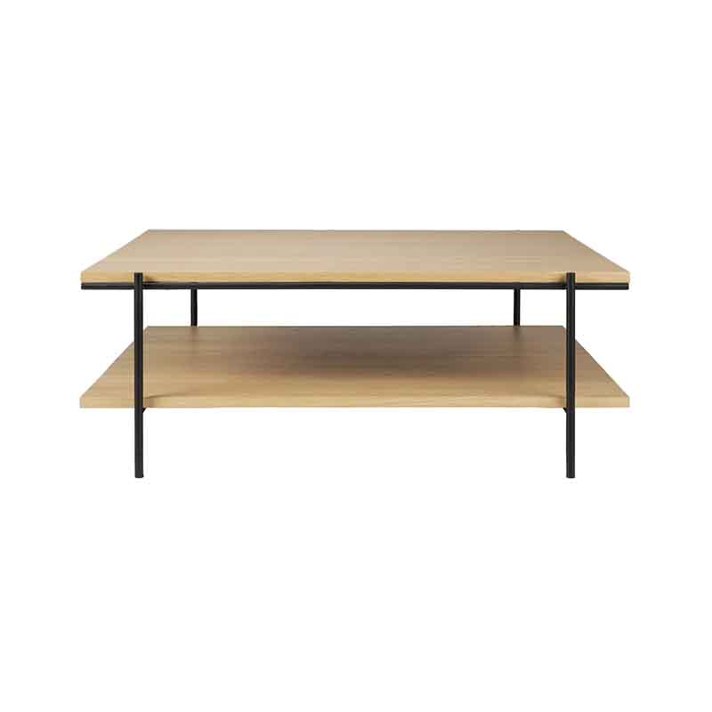 Ethnicraft Rise 100x100cm Coffee Table by Alain Van Havre Olson and Baker - Designer & Contemporary Sofas, Furniture - Olson and Baker showcases original designs from authentic, designer brands. Buy contemporary furniture, lighting, storage, sofas & chairs at Olson + Baker.