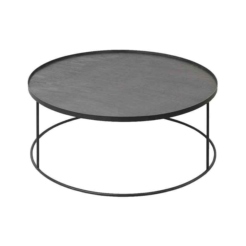 Ethnicraft Round Tray Coffee Table by Dawn Sweitzer Olson and Baker - Designer & Contemporary Sofas, Furniture - Olson and Baker showcases original designs from authentic, designer brands. Buy contemporary furniture, lighting, storage, sofas & chairs at Olson + Baker.