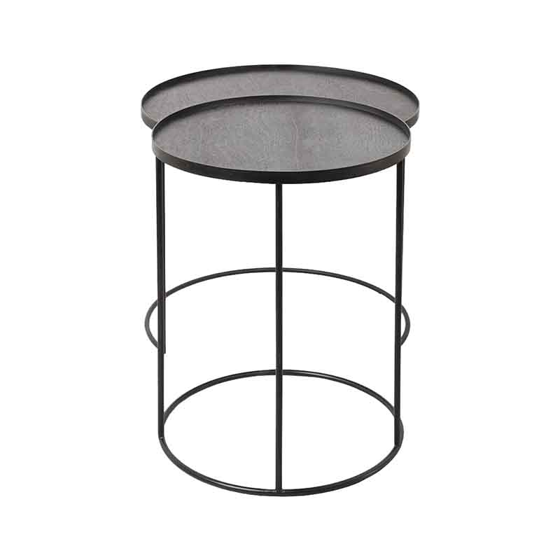 Ethnicraft Round Tray Side Table - Set of Two by Dawn Sweitzer Olson and Baker - Designer & Contemporary Sofas, Furniture - Olson and Baker showcases original designs from authentic, designer brands. Buy contemporary furniture, lighting, storage, sofas & chairs at Olson + Baker.