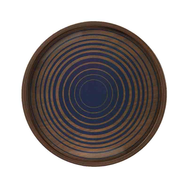 Ethnicraft Royal Circles Round Glass Valet Tray by Dawn Sweitzer Olson and Baker - Designer & Contemporary Sofas, Furniture - Olson and Baker showcases original designs from authentic, designer brands. Buy contemporary furniture, lighting, storage, sofas & chairs at Olson + Baker.