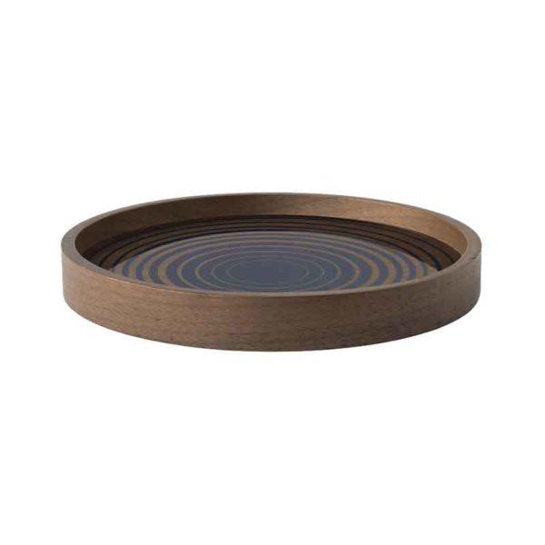 Royal Circles Round Glass Valet Tray