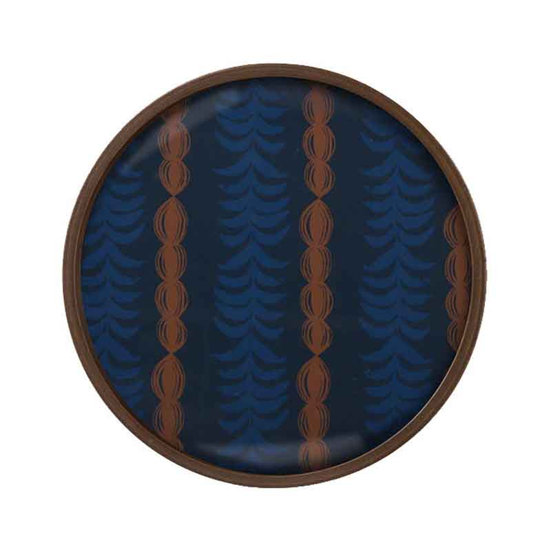 Ethnicraft Royal Palm Round Glass Valet Tray by Dawn Sweitzer Olson and Baker - Designer & Contemporary Sofas, Furniture - Olson and Baker showcases original designs from authentic, designer brands. Buy contemporary furniture, lighting, storage, sofas & chairs at Olson + Baker.