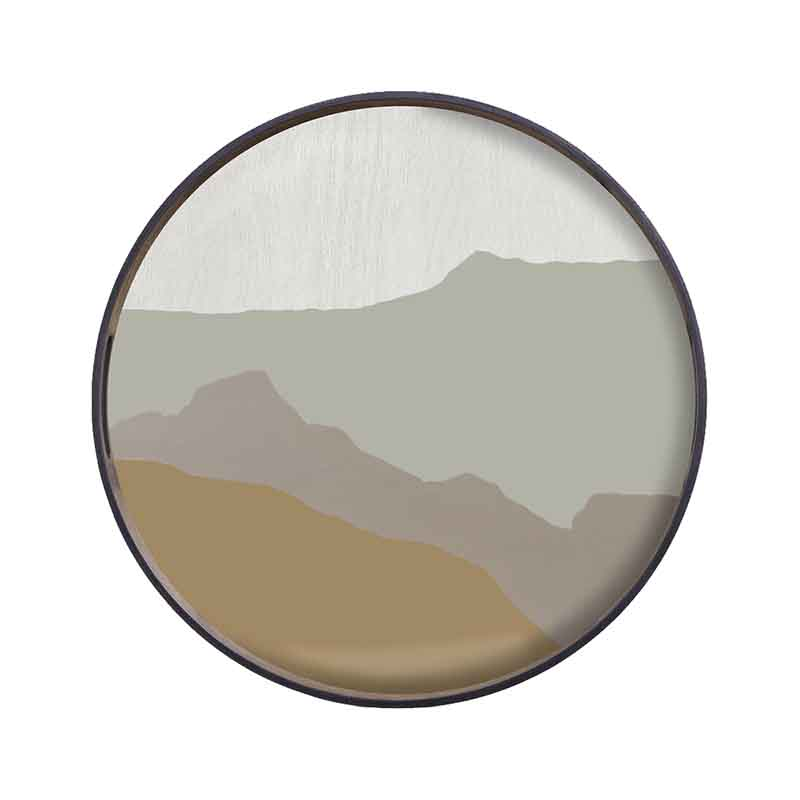 Ethnicraft Sand Wabi Sabi Round Glass Tray by Dawn Sweitzer Olson and Baker - Designer & Contemporary Sofas, Furniture - Olson and Baker showcases original designs from authentic, designer brands. Buy contemporary furniture, lighting, storage, sofas & chairs at Olson + Baker.