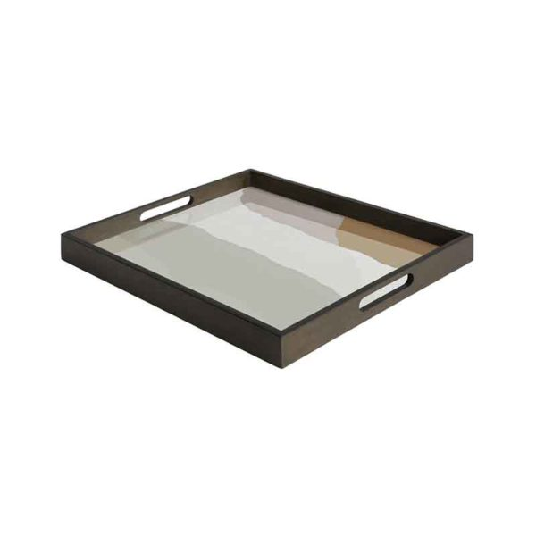 Sand Wabi Sabi Rectangular Glass Tray