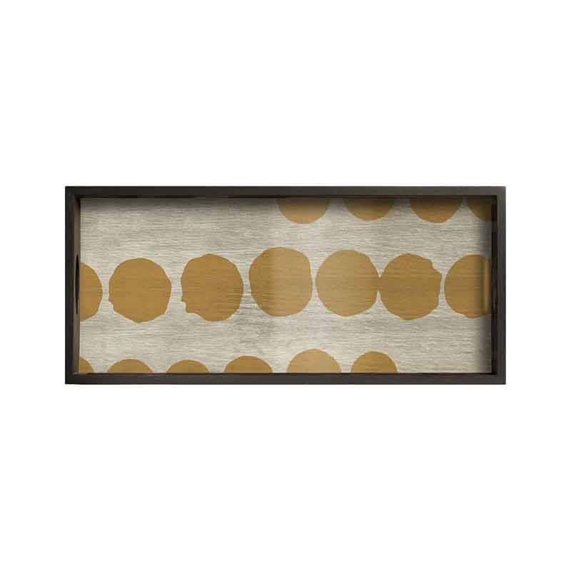 Ethnicraft Sienna Dots Rectangular Glass Tray by Dawn Sweitzer Olson and Baker - Designer & Contemporary Sofas, Furniture - Olson and Baker showcases original designs from authentic, designer brands. Buy contemporary furniture, lighting, storage, sofas & chairs at Olson + Baker.