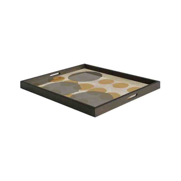 Sienna Layered Dots Rectangualr Glass Tray