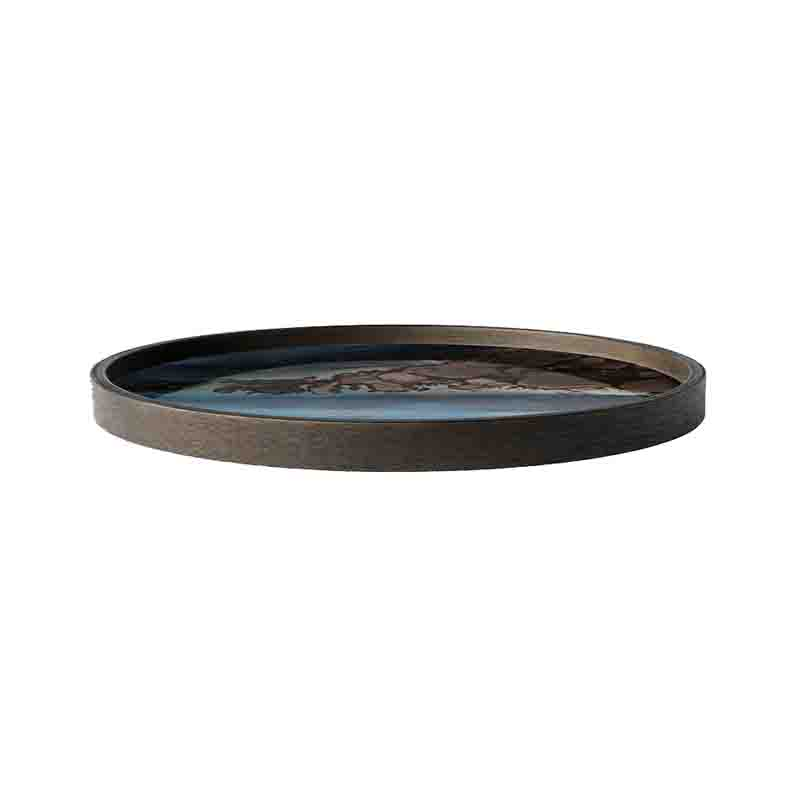 Ethnicraft_Slate_Organic_Round_Glass_Valet_Tray_by_Dawn_Sweitzer_2 Olson and Baker - Designer & Contemporary Sofas, Furniture - Olson and Baker showcases original designs from authentic, designer brands. Buy contemporary furniture, lighting, storage, sofas & chairs at Olson + Baker.